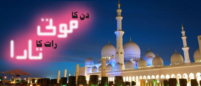دن کا موتی، رات کا تارا ۔۔۔ شیخ زید مسجد